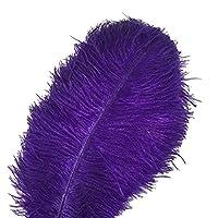 KOLIGHT 50ピースダチョウの羽紫の30-35 cm天然羽結婚式、パーティー、ホーム、毛の装飾