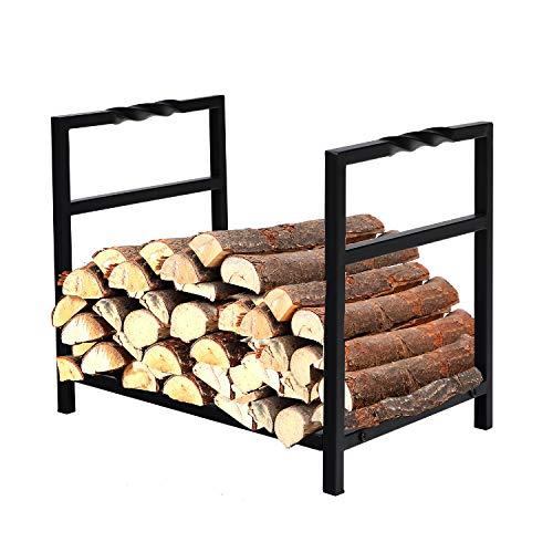 PHI VILLA 16 Inch Indoor/Outdoor Firewood Racks Log Rack, Wavy