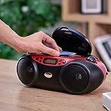 Blackweb Bluetooth Cd Boombox with AM/FM Radio, Red
