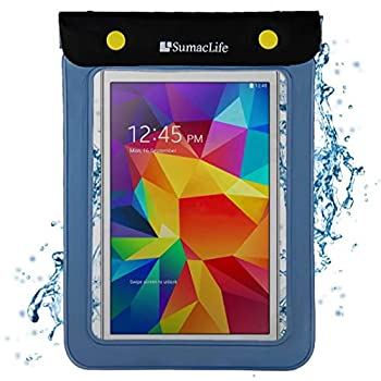 Universal Waterproof Case Dry Bag for Kobo Aura One Clara HD Aura H20 Glo HD Tablets up to 8.5 inch  Blue