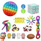 減圧玩具Stress Relief Fidget Toys, 感覚ガジェットおもちゃセット、救済ハンドおもちゃ、子供と大人のための救済ハンドおもちゃ (50 PCS #3)