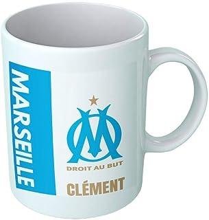 Mug tasse personnalisé Olympique de Marseille et prénom - Cadeau personnalisé pour les amateurs de foot - Tasse personnali...