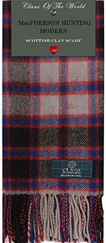 I Luv Ltd MacPherson Hunting Modern Tartan Clan Scarf 100% Soft Lambswool