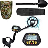 Esright Metal Detector for Adult, Gold Detector with Waterproof Sensitive Search Coil, All Metal, P/P & Disc Modes, 42-53 Inch Adjustable Height, Lightweight Metal Detector for Adults & Kids