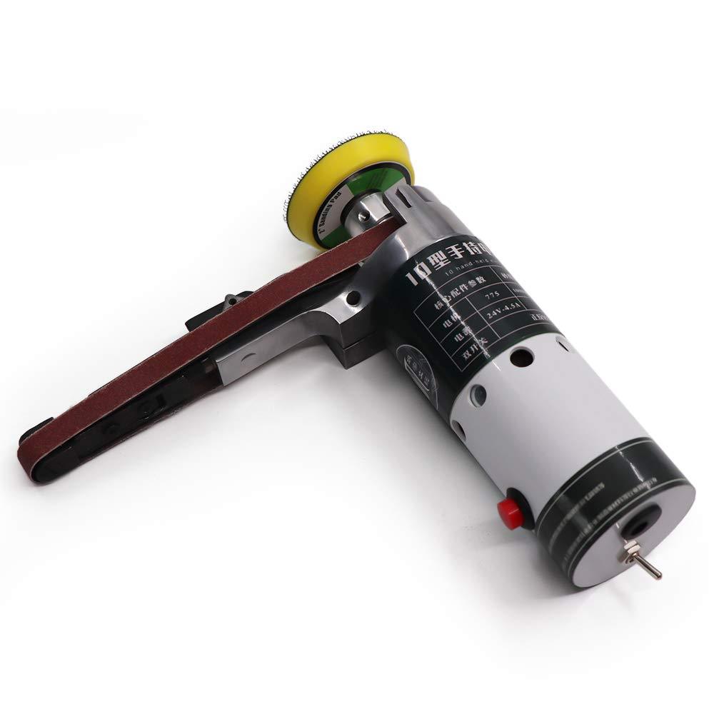 Montloxs Lijadora de correa el/éctrica Lijadora de correa mini Amoladora el/éctrica Peque/ña m/áquina de pulir Lijadora de banda el/éctrica de mano con correas de lijado