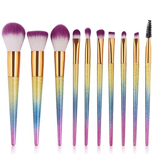 Pincel De Maquillaje 10 Unids 3D Pinceles De Maquillaje Set Cosm¨¦tica Fundaci¨®n Polvo Mezcla Sombra De Ojos Lash Lip Make Up Brush Maquiagem Beauty Tool Kit