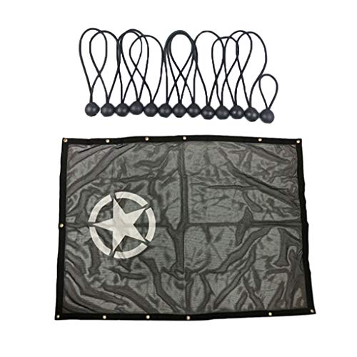 SDENSHI Cubierta superior de la malla de protección UV del parasol 59 x 45 pulgadas para Jeep Wrangler JK 2/4 puertas