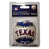 Franklin Sports MLB Texas Rangers Team Baseball - MLB Team Logo Soft Baseballs - Toy Baseball for Kids - Great Decoration for Desks and Office
