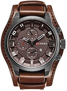 Curren Casual Watch For Men Analog Leather - 8225 - Brown band and dial