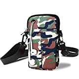 Arm Bag for Men Fashion Camo Waterproof Armband Outdoor Hiking Wrist Bag for Phone&Keys,Lightweight Small Mini Crossbody Bag Workout Zipper,Cell Phone Holder Arm Case for Apple iPhone/Samsung/LG/Sony