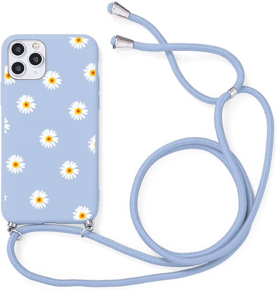 Yoedge Crossbody Case for Xiaomi Redmi 7, Neck Cord Phone Case with Adjustable Lanyard Strap, Soft TPU Silicone with Cute Pattern Cover Compatible with Redmi 7 [6.26