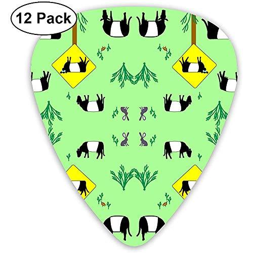 12 Pack Highway Patrol Koeien Behang Gitaar Picks Complete Gift Set voor Gitarist