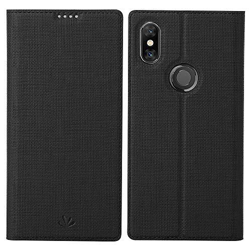 Eastcoo Compatible con Xiaomi Mi Mix 3, funda tipo cartera Mix 3, piel sintética, tarjetero, protector antiarañazos, cierre magnético, TPU piel sintética, Negro , Xiaomi Mi Mix 3