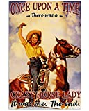 AZSTEEL Crazy Horse Lady | Poster No Frame Board for Office