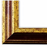 Bilderrahmen Rot Gold DIN A0 (84,1 x 118,9 cm) DINA0(84,1x118,9) - Antik, Barock, Shabby - Alle Größen - handgefertigt - Galerie-Qualität - WRP - Genua 4,3 - Massiv-Holz