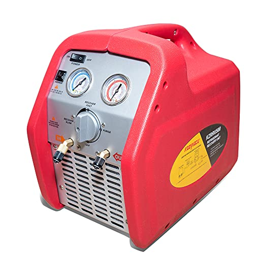 Kozyvacu 1HP Oilless Portable Refrigerant Recovery Machine for Both Liquid and Vapor Refrigerant