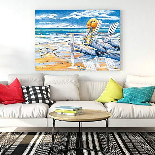 tzxdbh Seascape canvas poster strand landschap kunst schilderij muurschildering pastoriefprint woonkamer middenzee decoratie kunst 21X30CM No Frame 1