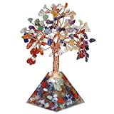 KYEYGWO Escultura de árbol de dinero sobre base de cristal bonsái para la buena suerte, riqueza y salud, 15,9-16,3 cm de alto