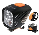 Magicshine MJ 906, High Performance MTB Bike Light Set, 5000 Lumens of Max Output. Bicycle Lights Front and Rear Combo with Remote. LED Bike Tail Light, Perfect Beam Pattern Bright Bike Light