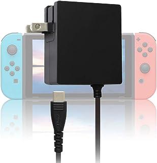 【Amazon.co.jp限定】【改良版】アローン Switch/Switch Lite用 TVモード対応 ACアダプター ||PSE認証済|| ドックに挿して使用できる充電器 スリムサイズで邪魔にならない 1.5m強化メッシュ採用ケーブルと強...
