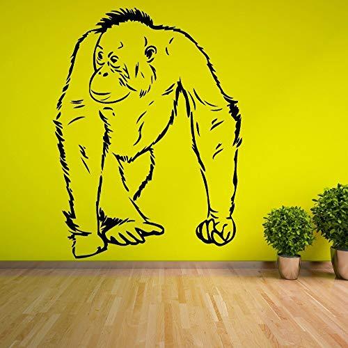 hetingyue Animal Serie oranje-urethaan aap Marche Homo sapagno vinyl muursticker woonkamer decoratie muurschildering
