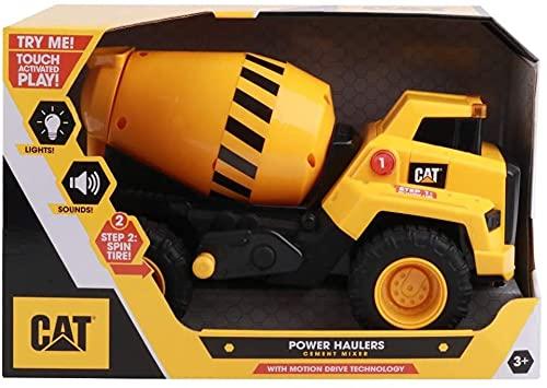 Caterpillar Power Haulers Camion Betoniera Veicolo da costruzione, Colore Giallo, Nero, 82269