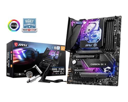 MSI MPG Z490 Carbon EK X Scheda Madre Gaming, 4X DDR4, 3X PCIe 3.0 x16, 6X SATA, 2X M.2, 7X USB 3.2, 6X USB 2.0, WiFi AX201, BT 5.1