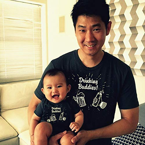 FUNNY DRINKING BUDDIES SET Father and Baby Matching T-Shirt and Bodysuit Set