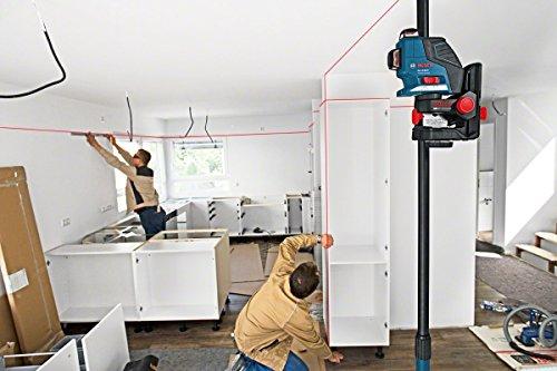Bosch 0601063309 Laser Lignes Et Croix Professional GLL 3-80 P (3 Lignes Projetées Sur 360°, Portée de 40 M (sans Cellule de Réception) avec Cible, Housse de Protection, Support)