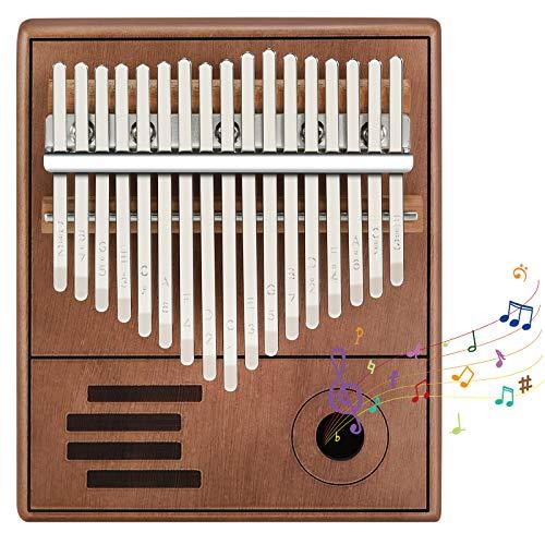 Kalimba 17 Schlüssel, Kalimba Instrument, Kalimba Daumenklavier Thumb Piano Portable Finger Kalimba Instrument mit Lernanleitung, Finger Daumen Piano für Kinder Erwachsene Anfänger