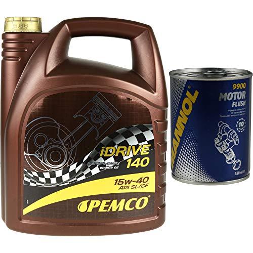 5L PEMCO Motoröl iDRIVE 140 15W-40 API SL/CF Motorspülung Motor Flush