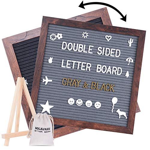 SOLEJAZZ Double Sided Felt Letter Board 12