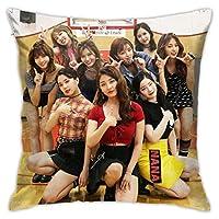 Bericher 韓流 Twice プリント枕カバーズされたクッションカバーのためのソファ車椅子家の装飾アクセサリー枕カバー14 45 Cm X 45 Cm271097682