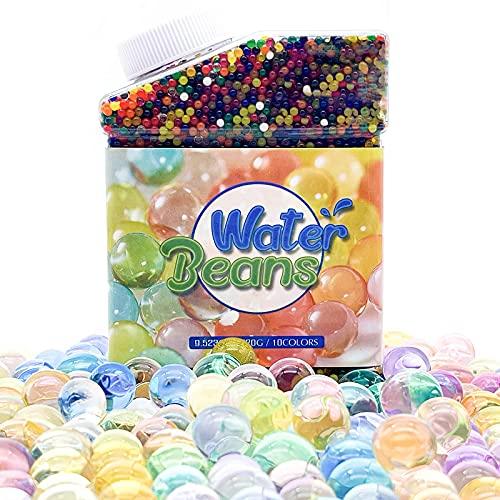 25000pcs Bolas de Gel de Agua, Perlas de Agua para Plantas, Bolas de Gel para Decoración, Water Beads para Jarrones Decoración Plantas Flores (Multicolor)