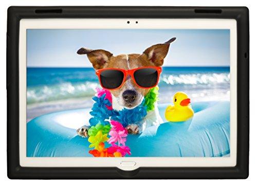 BobjGear Bobj Rugged Tablet Case for Lenovo Tab 4 10 Plus (TB-X704V, TB-X704F, TB-X704L, TB-X704Y, MotoTab TB-X704A) - BobjBounces Kid Friendly (Bold Black)