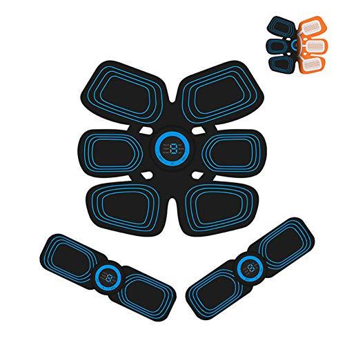 SAHWIN Estimulador Muscular Abdominales, EMS Electroestimulador Muscular Abdominales, ABS Estimulador Muscula para Hombre/Mujer, Abdomen Brazo Piernas Glúteos, (Negro)