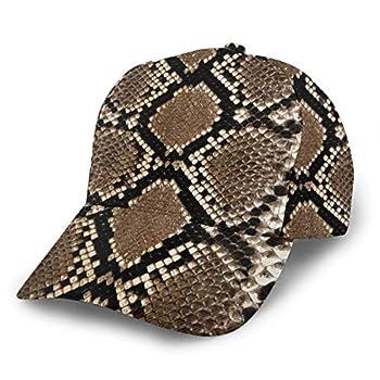 Snake Skin Print Unisex Baseball Cap Low Profile Adjustable Dad Hat
