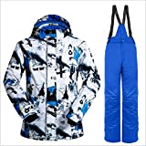 Togames-ES Wild Snow Professional Snow Ski Jacket Pants Traje Impermeable a Prueba de Viento Uso al Aire Libre para Esquiar Snowboard para Hombres HAHA