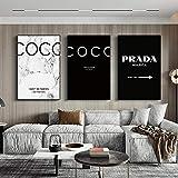 Mode Coco Zitate Plakate und Drucke Moderne Schwarz Weiß