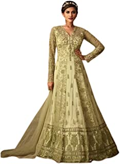 فستان حريمي إسلامي طويل من Sage Net Long Thread Work Muslim Anarkali salwar kameez جاهز للارتداء فستان مهرجان