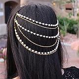 Yean peines accesorios para el pelo cabeza cadena para las mujeres y las niñas
