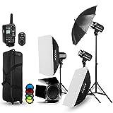 Godox E300 Strobe Studio Flash Light Kit 900W - Photographic Lighting - Strobes,...
