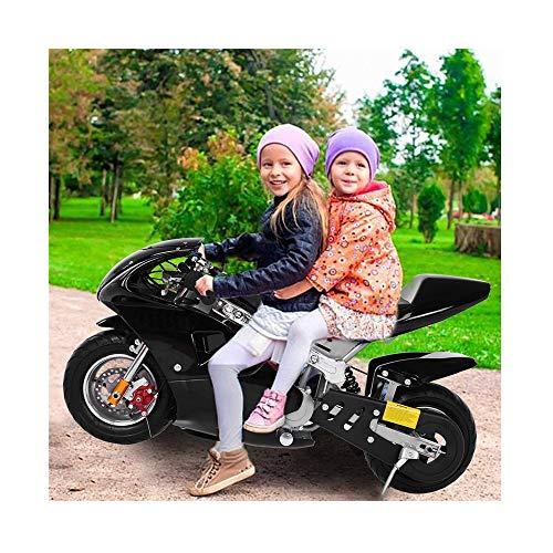 49cc 4-Stroke Pocket Bike,2020 New Gas Pocket Motorcycle Bike,Mini Gas Power Pocket Bike Motorcycle 4-Stroke Engine Motorcycle Off Road Motorcycle for Kids Teenagers - US Stock (Black)