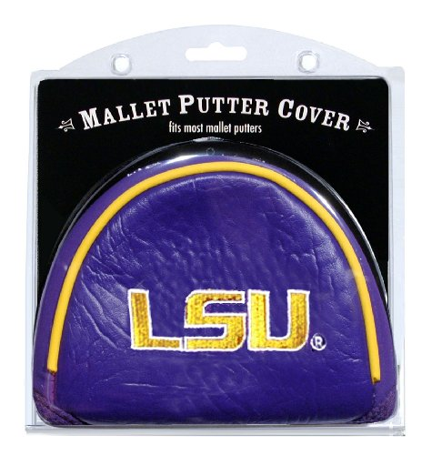 Team Golf NCAA Golf Club Mallet Putter Headcover, Fits Most Mallet Putters, Scotty Cameron, Daddy Long Legs, Taylormade, Odyssey, Titleist, Ping, Callaway, LSU Tigers