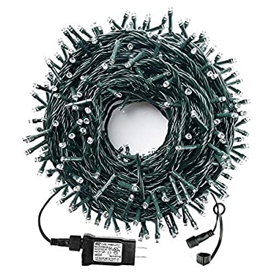 MZD8391 105FT 300LED Christmas Lights Outdoor Indoor, 100% UL Certified 8 Modes, END to END CONNECTABLE, Waterproof Christmas Tree Lights Fairy String Lights Christmas Decoration Party