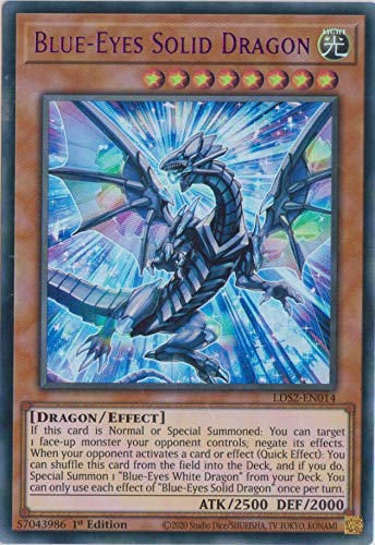 Blue-Eyes Solid Dragon (Purple) - LDS2-EN014 - Ultra Rare - 1st Edition
