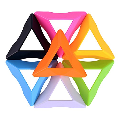 WKarma 7Pack Cube Stand Plastic Speed Cube Holder Clear