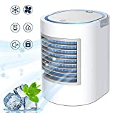 Portable Air Conditioner, Personal Mini Air Cooler, Quiet USB Desk Evaporative Air Cooler Fan with 7...