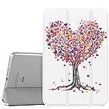 MoKo Funda para iPad Mini 3/2/1, Ultra Delgado Función de Soporte Protectora Plegable Cubierta Inteligente Trasera Transparente para iPad Mini 1/Mini 2/Mini 3 - árbol del Amor