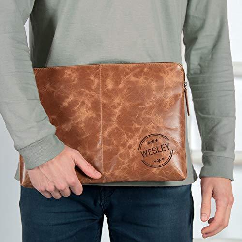 Leren laptophoes - Bruin - 15 inch